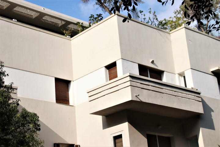 Bauhaus building have flat roofs
