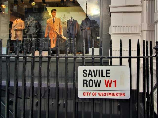 Savile Row in London - Famous street for suits