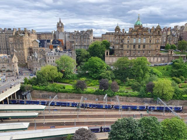 Scott Monument - the scenery from the top