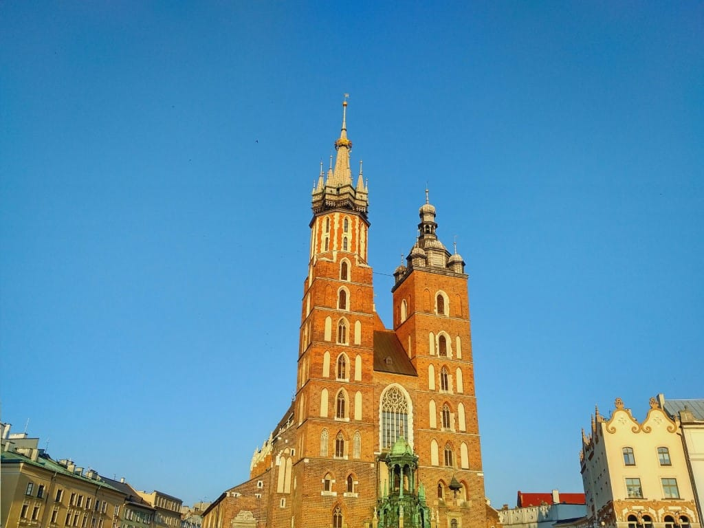 Krakow St. Mary's Basilika - the two towers