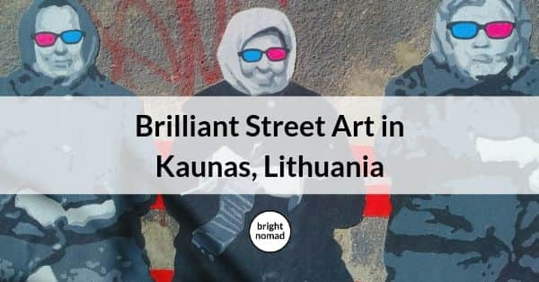 Street art in Kaunas Lithuania