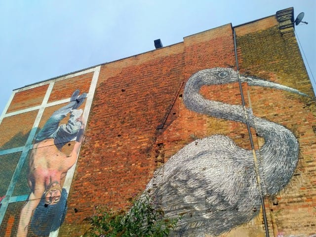 Street art on Hanbury Street off Brick Lane