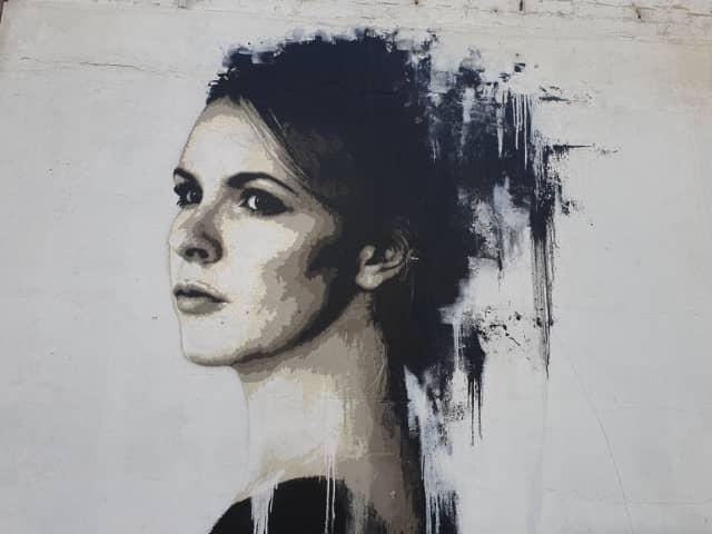 Study of a Woman in Black  - Kilngatron street art
