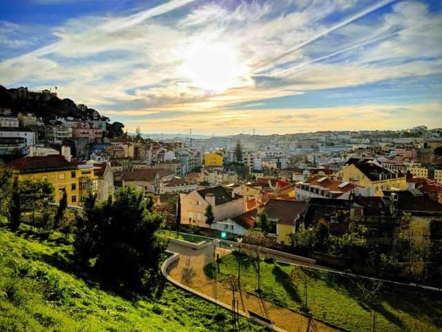 Sunset over Lisbon - A good city for digital nomads