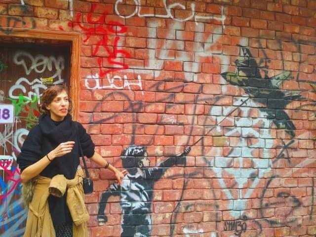Tel Aviv Street Art Tour - Bansky homage - Liron the tour guide