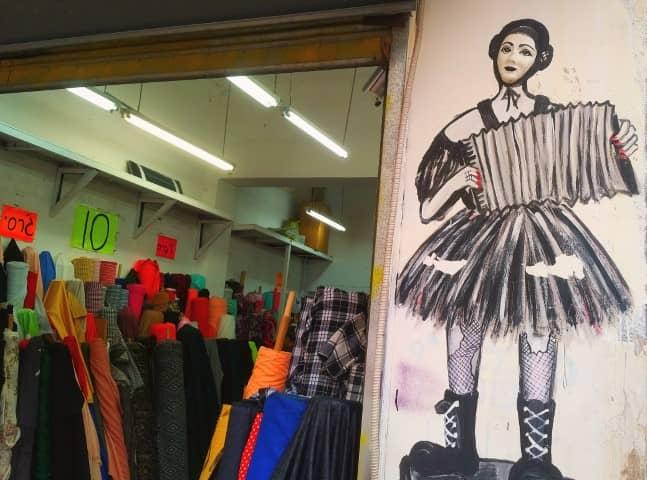 Tel Avivian shop and lovely street art