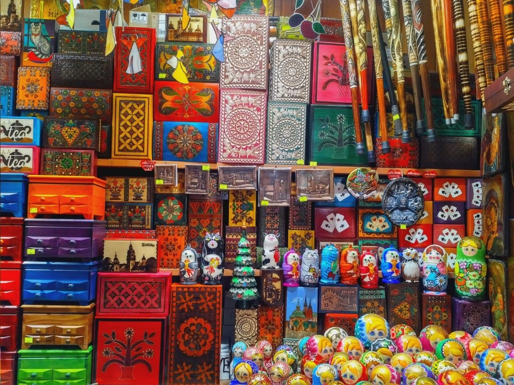 The Cloth Hall - Polish souvenirs