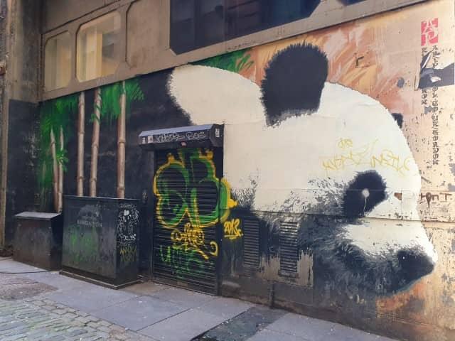 The Glasgow Panda mural