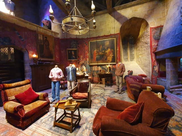The Gryffindor Common Room film set