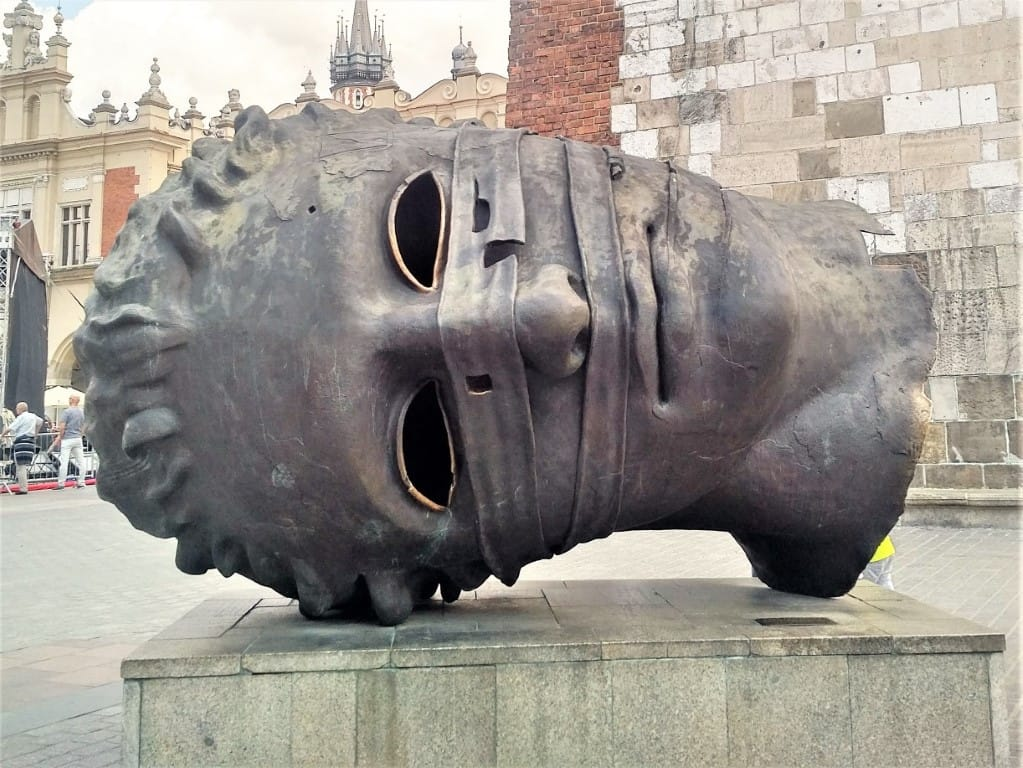The Head in the Main Square in Krakow