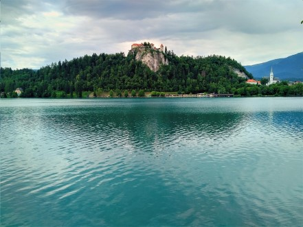 The beautiful Lake Bled, Slovenia