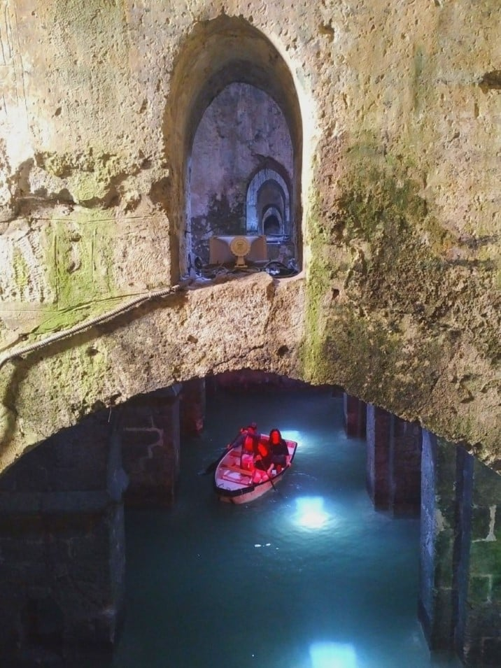 Paddling boat at the Pool of Arches in Ramla