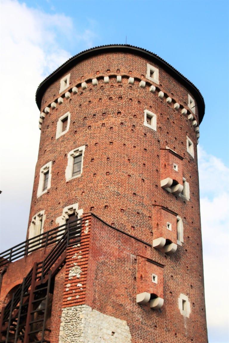 The Sandomierska Tower at Wawel Castle