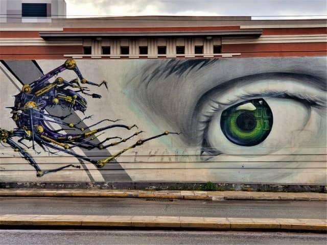 The Telecoms Building Athens street art