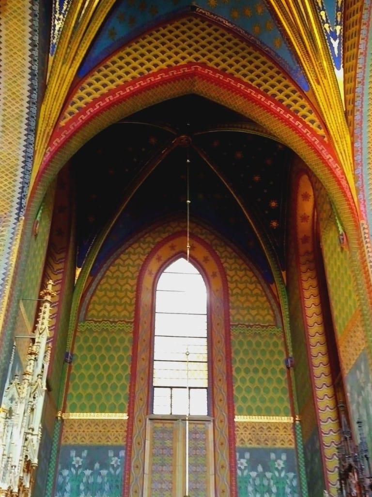 Krakow The colourful St Francis Church