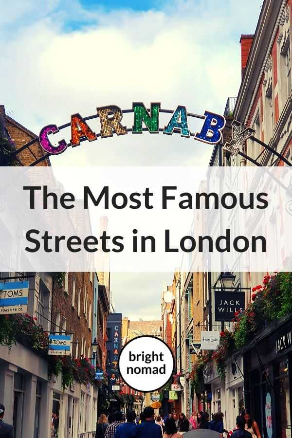 The most famous streets in London