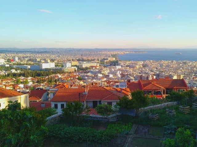 Thessaloniki from above - the view from the Upper Town