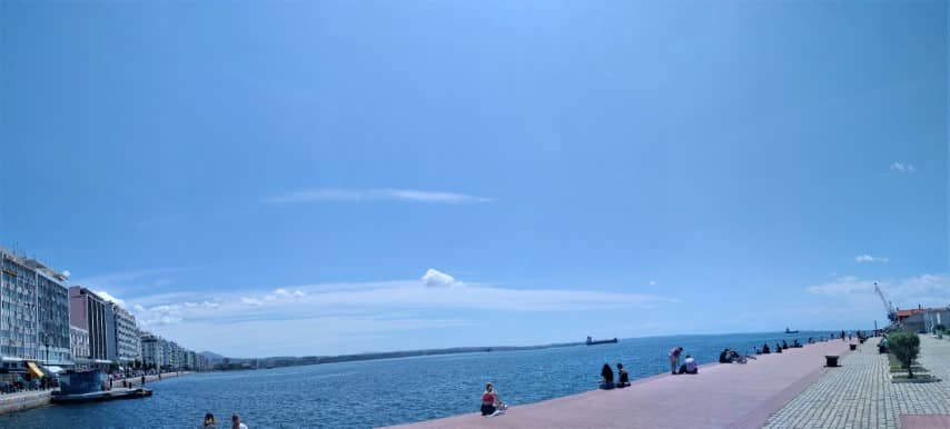 Thessaloniki old port panorama