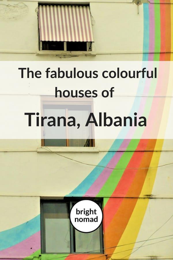 Tirana Albania colourful houoses