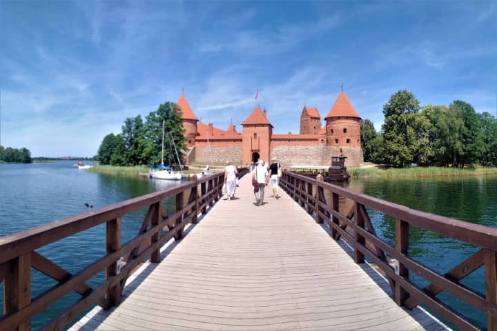 Trakai - the bridge to the castle