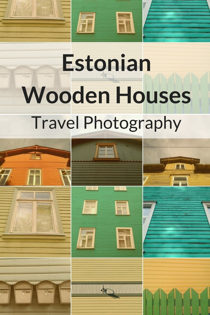 Travel Photography Estonian Wooden Houses Detach