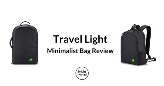 Travel light - minimalist carry on bag review