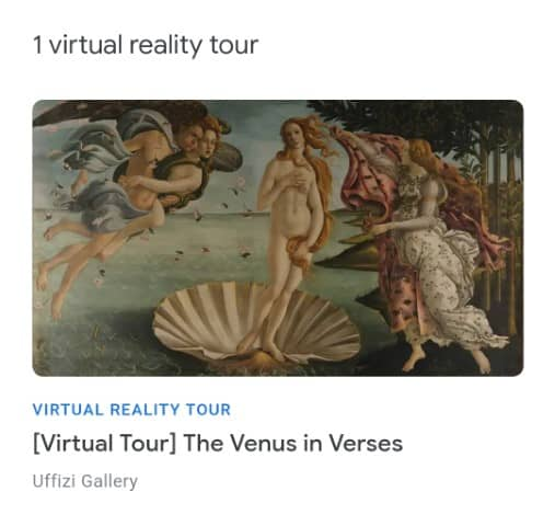 Uffizi Gallery - Virtual reality museum tour