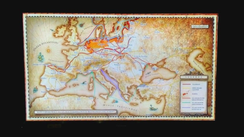 Underground Museum Krakow - Trade links map