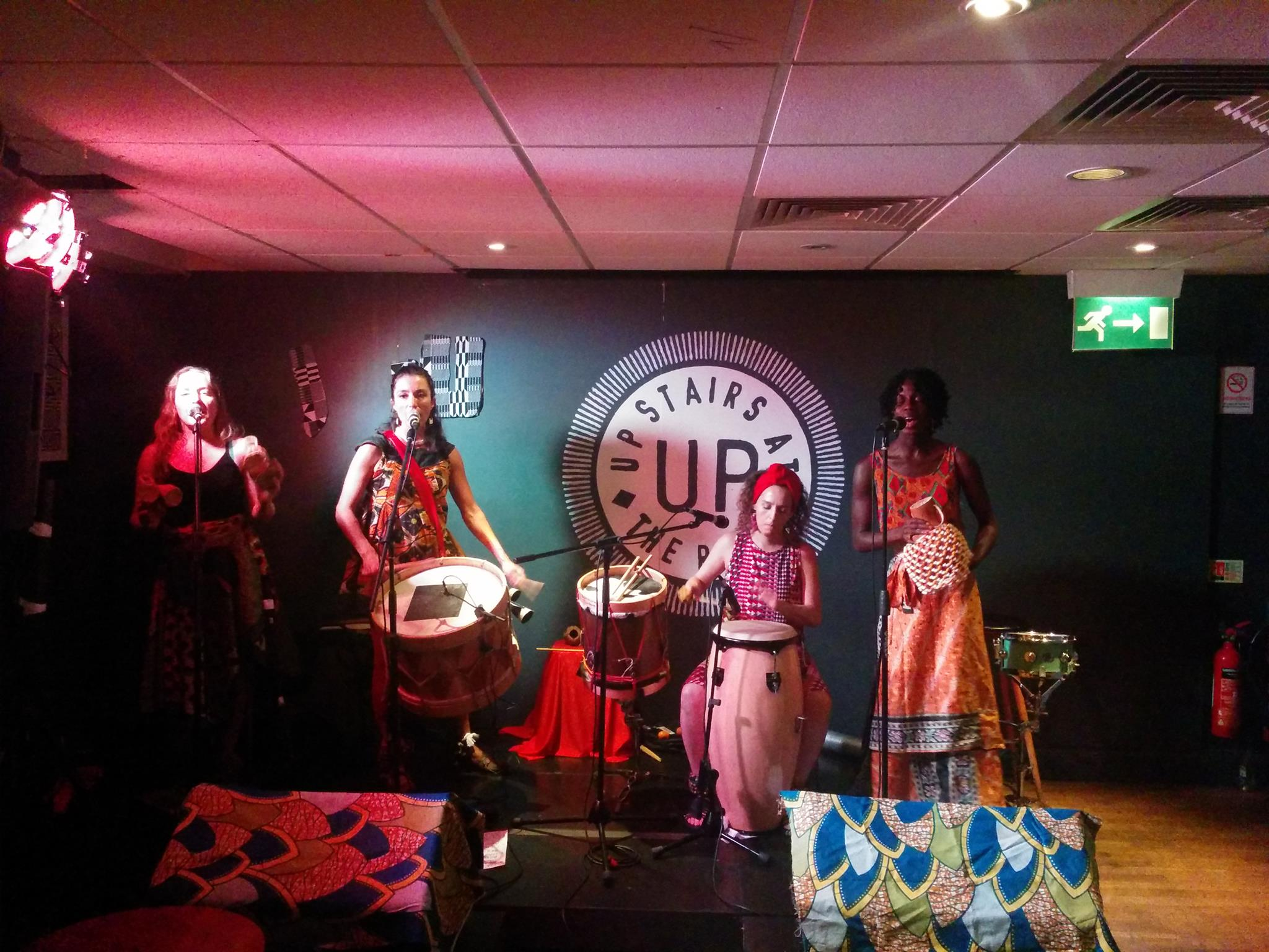 Let Drum Beat playing Brazilian music at Upstairs at the Ritzy