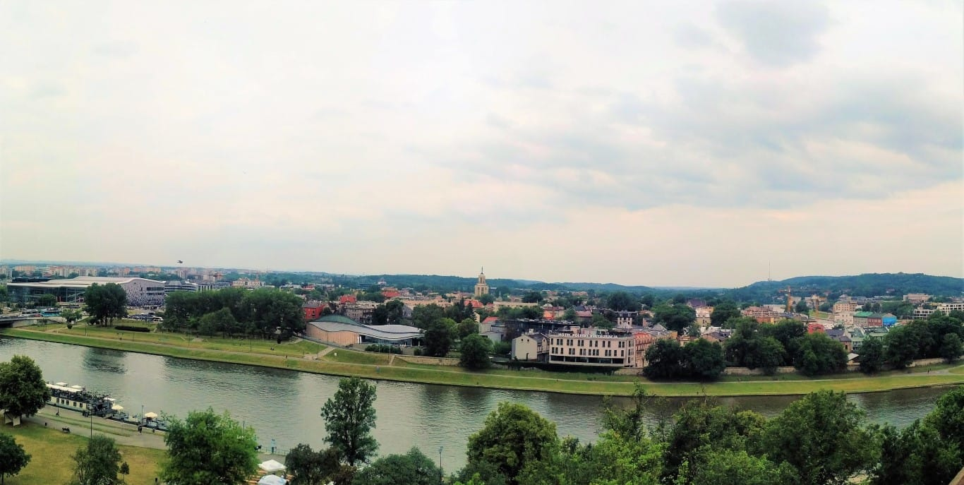 View from the Sandomierska Tower Krakow