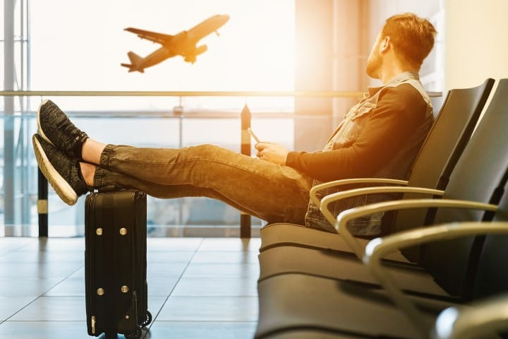 Waiting for your flight at the gate