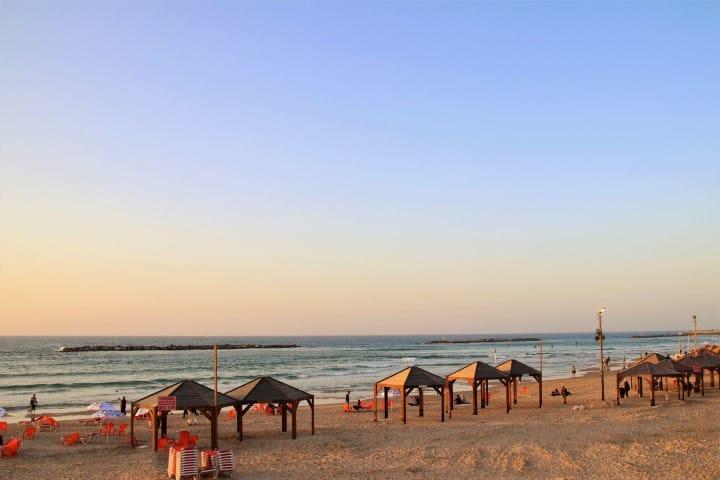 Tel Aviv beach - Budget travel tips