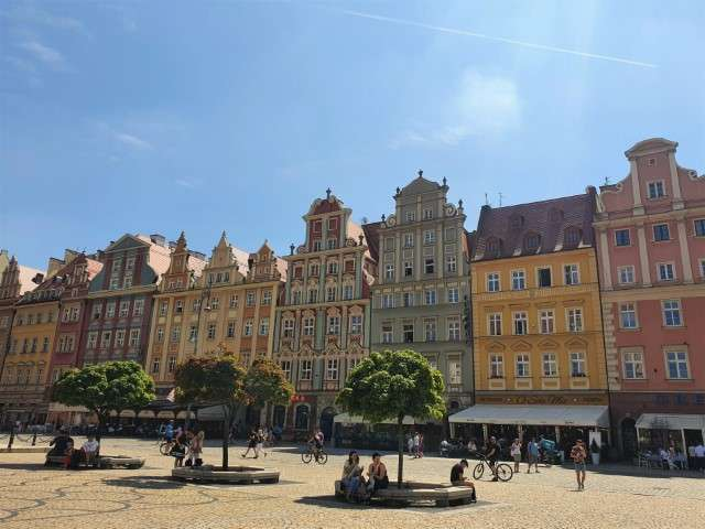 The market square in the old town of Wroclaw