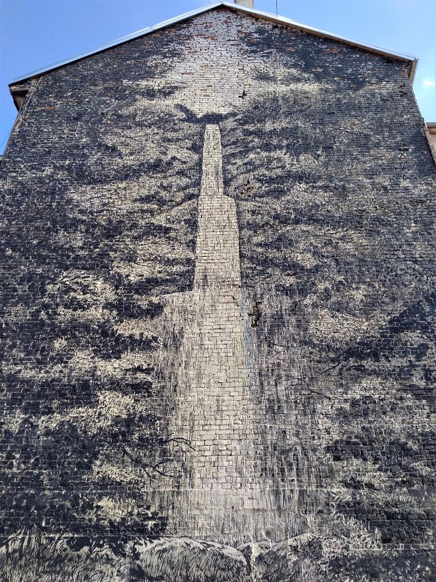City Waterfall street art