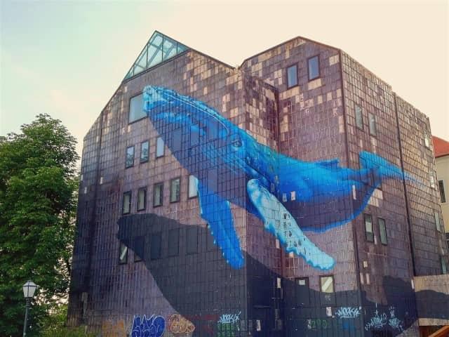 Zagreb Street Art - Whale by Etien