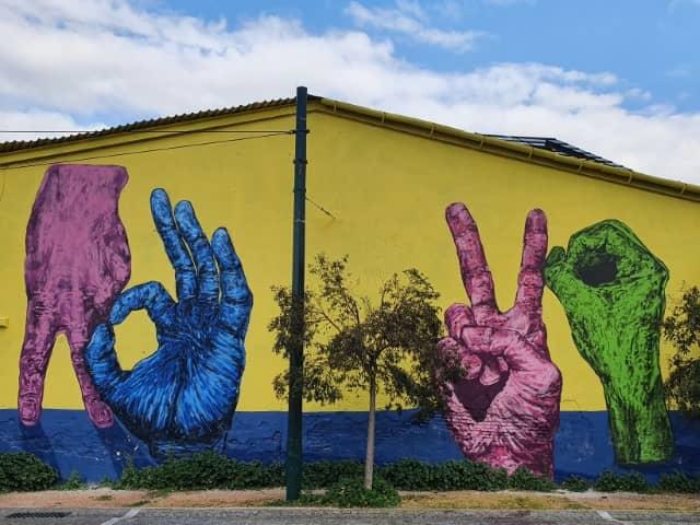 Zero Stigma mural in Athens