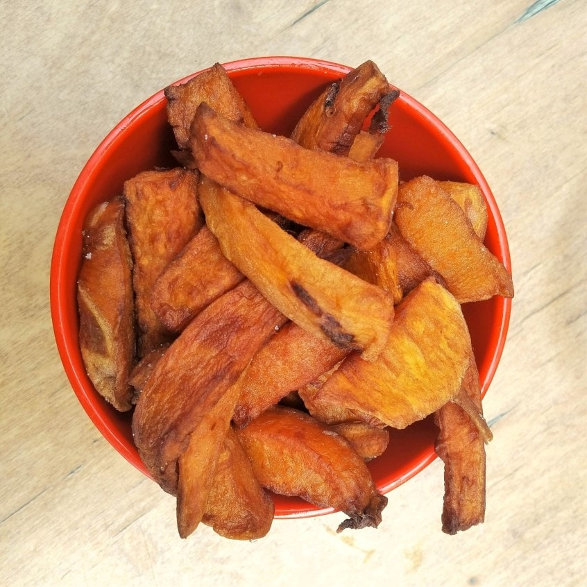 kasbah sweet potato chips Vegan Tel Aviv food tour with Bitemojo