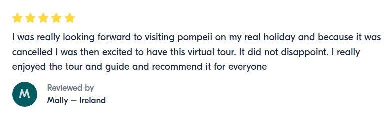 Pompeii review virtual tour