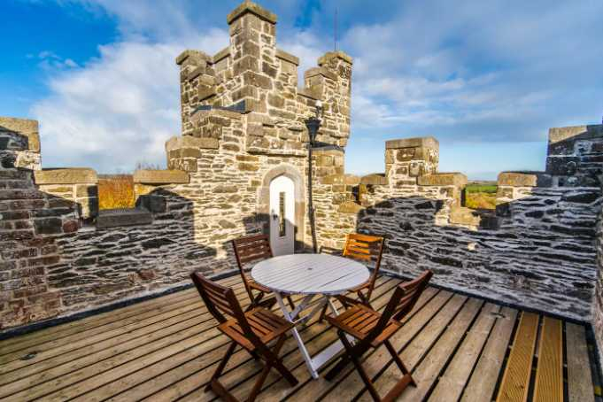 Fins a castle to stay in on Airbnb