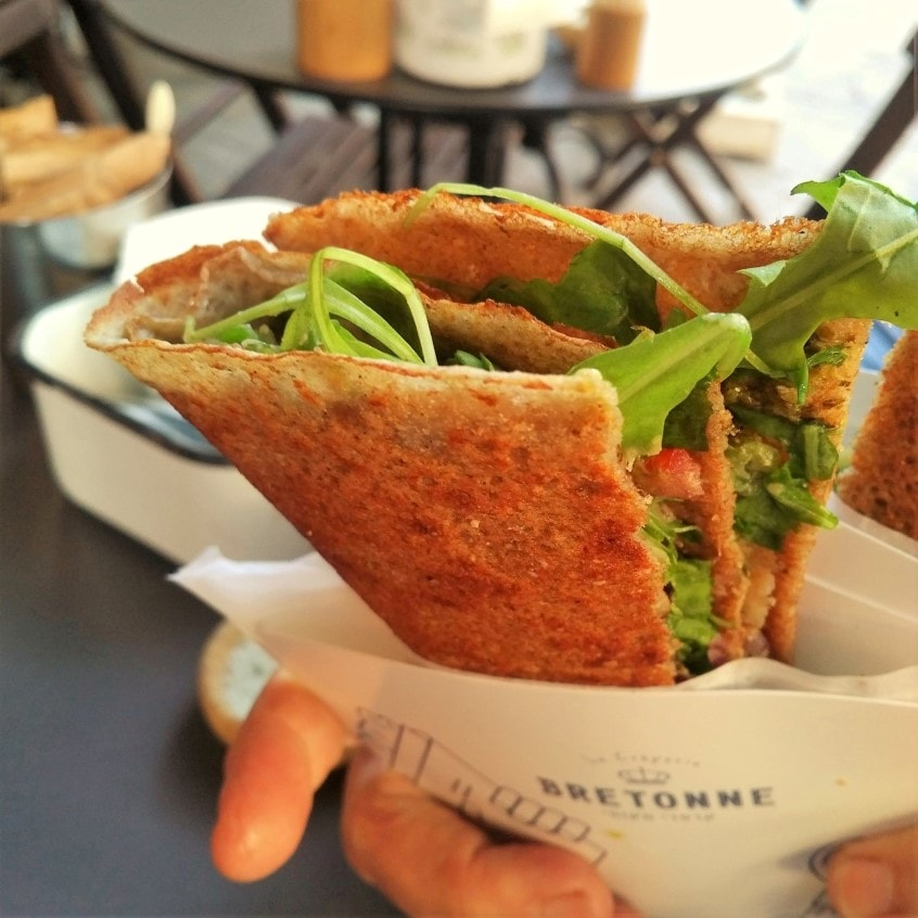vegan crepe Tel Aviv food tour with Bitemojo